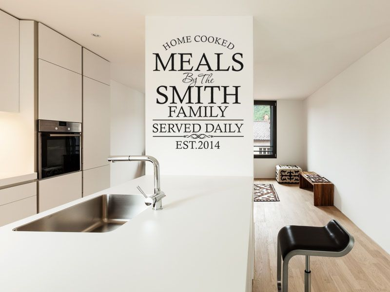 personalised family kitchen wall art quote wall sticker decal modern
